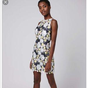 Topshop Multi color lace dress